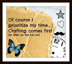 """Craft time! :) SO glad this is my new """"JOB""""!!!!"""