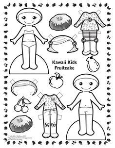 Paper Doll School: Kawaii Kids #27 - National Fruitcake Day!