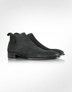 Forzieri Black Sparkle Leather Boots   FORZIERI