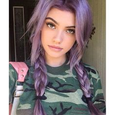 Face Shape Hairstyles, Wig Hairstyles, Grunge Hairstyles, Hairstyle Ideas, Pretty Hairstyles, Wedding Hairstyles, Half Updo, Half And Half Hair, Hair Color Purple