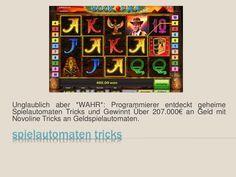 Durchsuchen Sie diese Website http://www.spielautomatentricks.eu/ für weitere Informationen auf spielautomaten trick.Sperrt der Casino Anbieter den Account nach einiger Zeit, weil er Angst vor zu hohen Verlusten hat, schickt der Erfinder des Spielautomaten Trick einem direkt einen neuen Casino Anbieter zu und das wiederholt sich dann unendlich oft.