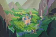 My Little Pony G1 Rescue at Midnight Castle 1984 Animation Cel Concept Painting