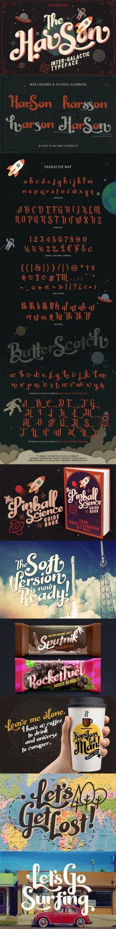 Harson Inter-Galactic #Typeface ( #vintage #retro #font #oldschool )