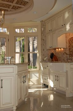 Interiors Nichols Design Group. Pretty cabinets!