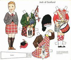 Scottish paper doll