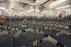 Bohyun Yoon - Disembarrassment 2014 Dimension: x x Materials: mirror, wood, wheels, rubber Mirror Panels, Exhibition Display, Installation Art, Art Work, Fill, Wheels, Illustration Art, Tech, Graphic Design