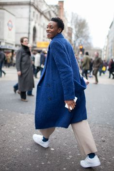 London Fashion Week street style.