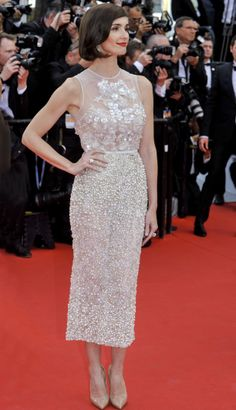 Paz Vega wears ELIE SAAB Haute Couture Spring Summer 2014 to the Opening Ceremony of the 67th Annual Cannes Film Festival.