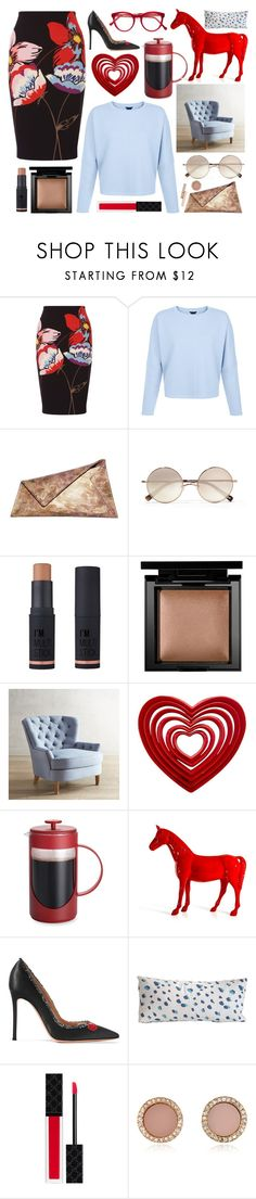 """Lilian"" by goingdigi ❤ liked on Polyvore featuring Fenn Wright Manson, Georgina Skalidi, Elizabeth and James, Charlotte Russe, Bare Escentuals, Pier 1 Imports, BonJour, Gianvito Rossi, Cutler and Gross and Dana Gibson"