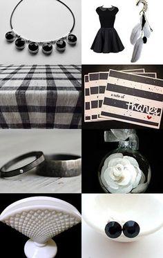 Black on White ~~~ White on Black by D' LaGrace on Etsy--Pinned with TreasuryPin.com #blackandwhite #etsyshop #giftideas #handmade