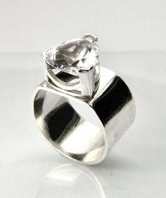 Simple trillion cut wedding ring