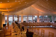 Perfect set up for a winter wedding, dinner or gala event.