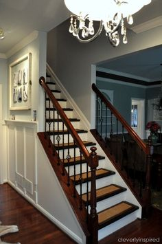 Top Hits Revisited: DIY Refinishing Stairs - Cleverly Inspired