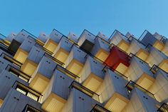Housing Block With Hundred Cubes Balconies