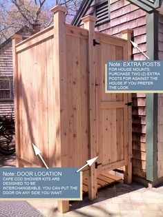 outdoor shower cedar house mount