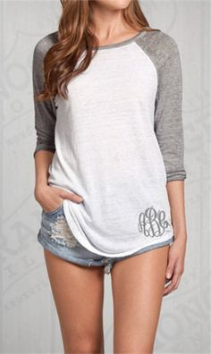 Casual Gray and White T-Shirt