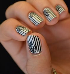 The most unique nail art I've seen so far! :) Awesome!