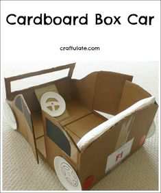 94 best recycling crafts for kids images on pinterest crafts for your kids will love this cardboard box car crafts thecheapjerseys Gallery