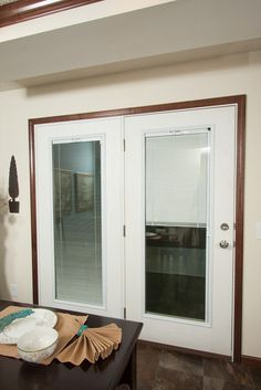 Swing Patio Door with Enclosed Blinds