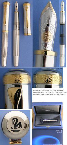 Pelikan M7000 sterling silver fountain pen #pelikan, #m7000, #fountain pen, #sterling silver, #18k Gold nib, #18k Gold, #gold, #925 sterling silver