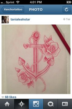 Anchor tattoo if we ever have a girl I would love to do this for her