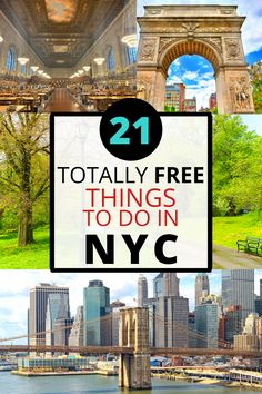 Explore the Big Apple with these 21 free things to do in NYC and have an amazing time exploring New York without spending a penny! Cheap Travel, Budget Travel, Travel Tips, Hyde Park, Usa Travel, Solo Travel, Nyc With Kids, New York, Free Things To Do