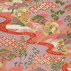This opaque patterned paper works wonderfully for book covers, end sheets, boxes, graphic design, framing, origami, and mixed media. Yuzen paper, or chiyogami, is a silkscreen of traditional kimono pa