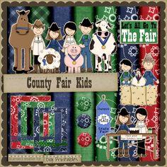 County Fair Kids 1 - Digi Scrap / Card Making Kit : Digi Web Studio, Clip Art, Printable Crafts & Digital Scrapbooking!