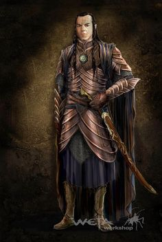 """Concept art for Elrond's armor as seen in """"The Hobbit: An Unexpected Journey""""…"""