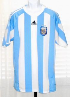 Argentina AFA Adidas Jersey Clima Cool Soccer Jersey  Size Large??  READ #adidas #Argentina