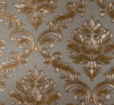 Papel de Parede Grace Medalhão Marrom e Cappuccino - GR920005 - Site de tecidos para sofá, cortinas, papel de parede e móveis