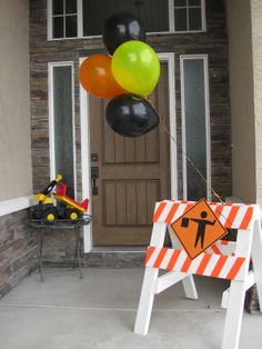 under construction baby shower theme | Sorry the pictures arent the greatest, a nice camera is on my wish ...