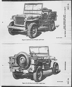 Drawing of MB/GPW jeep from TM 9-803, dated 22 February 1944