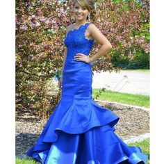 170 USD.Mermaid Prom Dresses,Royal Blue Satin Prom Dresses,One Shoulder Prom Dresses,Elegant Formal Gowns,Long Evening Dresses for Women,Prom Dresses 2017 Long Sexy