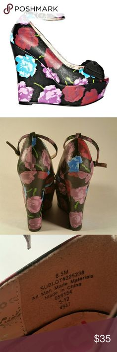 e7dbeec55098dd Betsey Johnson Floral Bow Platform Strap Wedges Hi Poshers! I m selling  these Betseyville
