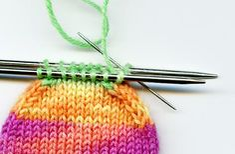Sockentraum: Sockenspitze im Maschenstich