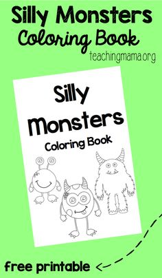 Silly monsters coloring book that& a free printable. Counseling Activities, Therapy Activities, Book Activities, Monster Activities, Monster Crafts, Coloring For Kids, Coloring Books, Coloring Sheets, Adult Coloring