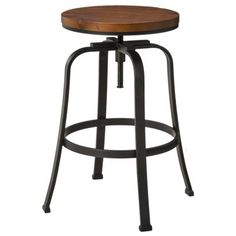 "Dakota Adjustable Height Swivel 29"" Barstool - Espresso/bronze"