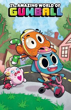 THE AMAZING WORLD OF GUMBALL #7 Retail Price: $3.99 Author: Frank Gibson Artist: Tyson Hesse Cover Artists: A. Missy Pena B. Mildred Lewis (Subscription Cover) C. Jemma Salume - INCENTIVE When Darwin wins the local Oaktree Derby racing contest, it's time to head to the regional finals, and no one is safe once Gumball gets involved. Rocket engines are surely regulation additions...right?