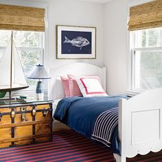 A charmer in Manchester-by-the-Sea, Massachusetts, is decked out in chic-meets-seaworthy style. Step inside for nonstop beach house decorating ideas.
