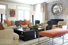 Evolution from Within | New England Home Magazine #livingroom