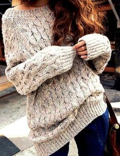 Chunky & Cozy Knit Sweater- never get these to look right on me but I love…