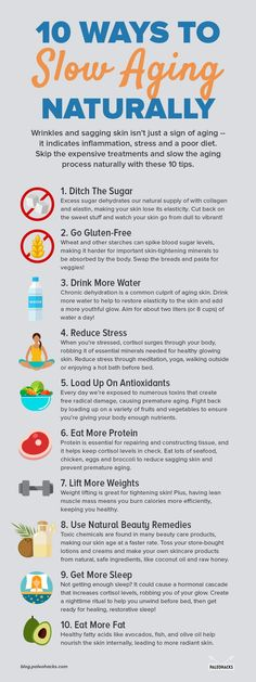 When it comes to aging, wrinkled, and sagging skin, we tend to think of slathering our skin with the latest beauty product to reduce lines and imperfections. 10 Ways to Slow Aging Naturally Best Anti Aging, Anti Aging Skin Care, Natural Skin Care, Natural Health, Anti Aging Tips, Natural Face, Organic Skin Care, Health And Nutrition, Health Tips