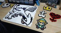 Lugia hama bead pokemon pixelart perler