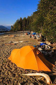 ▲ camping......A kayak camp on Vargas Island Clayoquot Sound British Columbia, Canada.