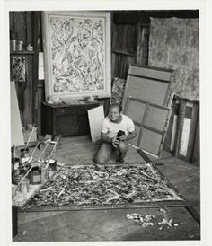 """""""every good painter paints what he is"""" pollock"""