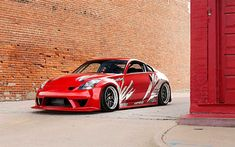 Download wallpapers Nissan 350Z, type n, red sports coupe, tuning 350Z, red 350Z, Japanese cars, Nissan