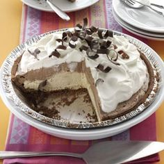 Mocha Java Pie with Kahlua Cream Recipe from Taste of Home
