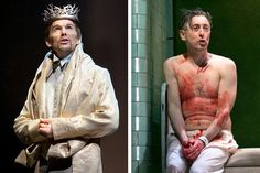 "Ethan Hawke, left, and Alan Cumming in different productions of ""Macbeth."" Related Article"