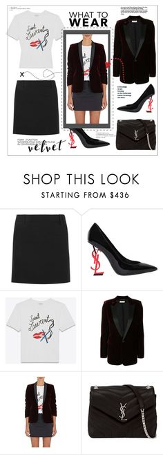 """Crushing on Velvet"" by faten-m-h ❤ liked on Polyvore featuring Yves Saint Laurent and velvet"